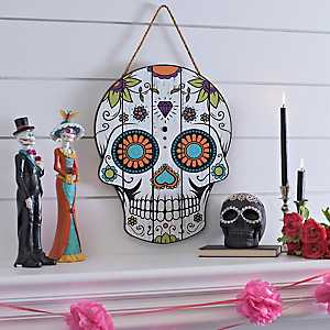 Sugar Skull Wall Plaque