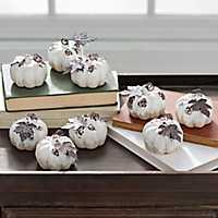 Cream Mini Drip Pumpkins, Set of 9