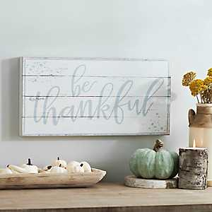 Be Thankful Wooden Wall Plaque