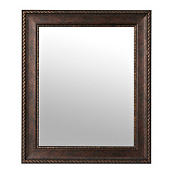 Bronze Rope Wall Mirror, 29.5x35.5 in.