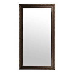 Bronze Rope Framed Wall Mirror, 38x68 in.