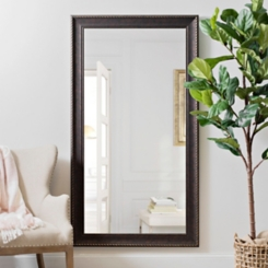 Bronze Rope Framed Wall Mirror, 37.5x67.5 in.