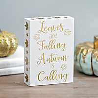 Autumn Is Calling Wall Plaque