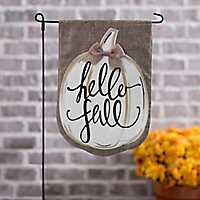 Hello Fall Pumpkin Flag Set