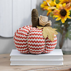 Striped Plush Pumpkin