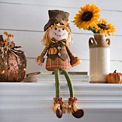 Harvest Scarecrow Boy Shelf Sitter