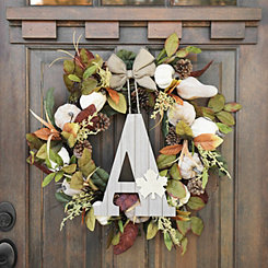 Fall Leaf Monogram A Wall Plaque