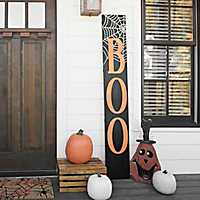 Boo Spider Web Porch Board Plaque