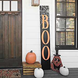 Boo Spider Web Porch Board Plaque