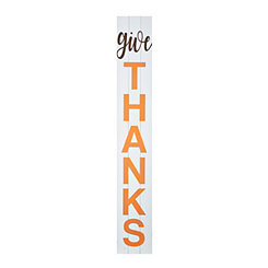 Give Thanks Porch Board Plaque