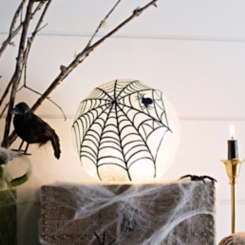 Pre-Lit Spider Crackle Orb