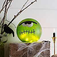 Pre-Lit Frankenstein Crackle Orb