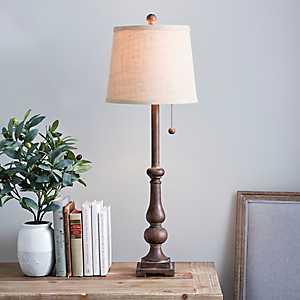 Nora Woodgrain Buffet Lamp