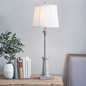 Nora Antique Gray Buffet Lamp