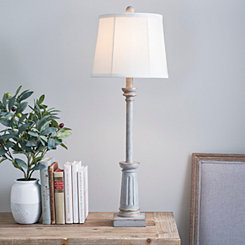 Nora Antique Gray Buffet Lamp