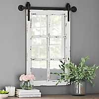 Rustic Antique White Farmhouse Mirror
