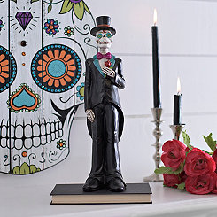 Day of the Dead Boy Skeleton Statue