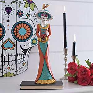 Day of the Dead Girl Skeleton Statue