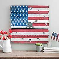 American Flag Plank Wall Clock
