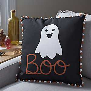 Ghost Boo Halloween Pillow