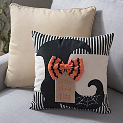 Witch's Shoe Halloween Pillow