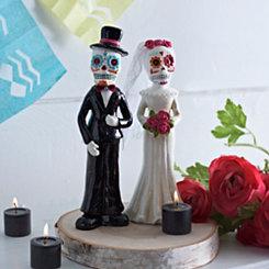 Dia de los Muertos Wedding Statues, Set of 2