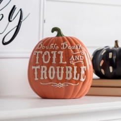 Toil and Trouble Pumpkin Statue