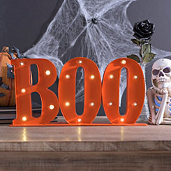 LED Halloween Boo Sign