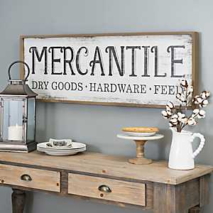 Vintage Mercantile Wall Plaque