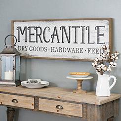 Vintage Mercantile Wall Plaque