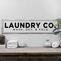 Laundry Co. Metal Wall Plaque