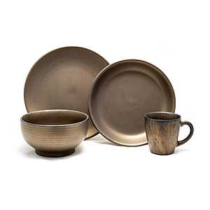Teton Rubbed Gold 16-pc. Dinnerware Set