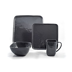 Bari Stormy Gray 16-pc. Dinnerware Set