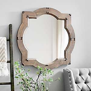 Weston Natural Wood Wall Mirror