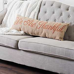We Are Thankful Bench Pillow