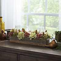 Succulent Mason Jar Crate Centerpiece