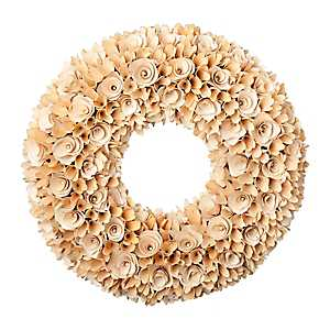 Natural Wood Chip Curl Wreath