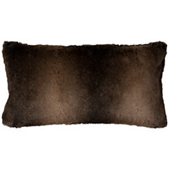 Brown Faux Fur Accent Pillow