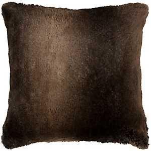 Brown Faux Fur Pillow