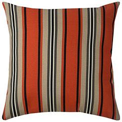 Orange Stripe Outdoor Pillow