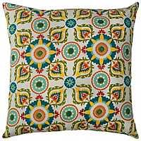 Blue Medallions Outdoor Pillow