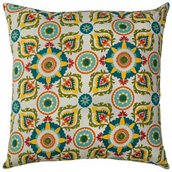Blue Medallions Outdoor Pillow