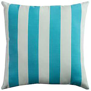 Blue and White Stripe Outdoor Pillow