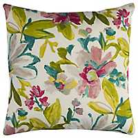 Watercolor Florals Outdoor Pillow