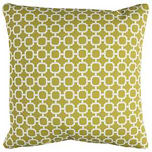 Green Chainlink Outdoor Pillow
