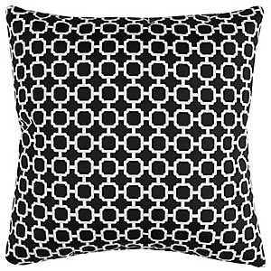 Black Chainlink Outdoor Pillow