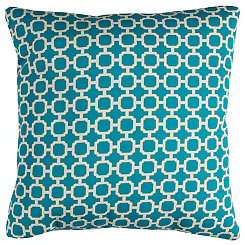 Blue Chainlink Outdoor Pillow