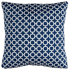 Navy Chainlink Outdoor Pillow