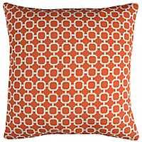 Orange Chainlink Outdoor Pillow