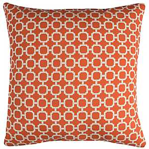 Orange Chainlink Outdoor Pillow